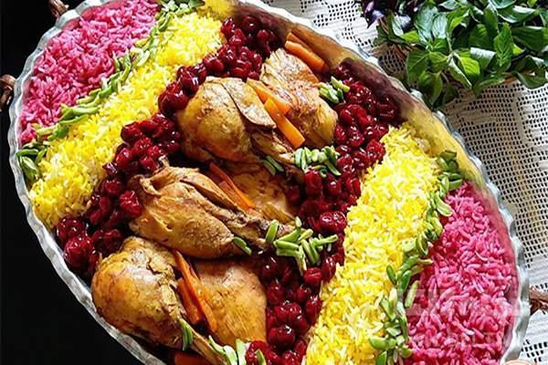 دستور پخت آلبالو پلو مجلسی