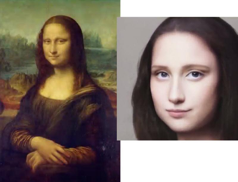 استفاده از هوش مصنوعی برای تبدیل پرتره های نقاشی مشهوری مانند مونالیزا به چهره واقعی احتمالی سوژه نقاشی