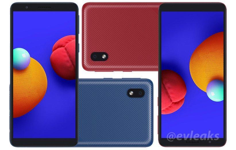 رندر و مشخصات گوشی گلکسی A01 Core فاش شد