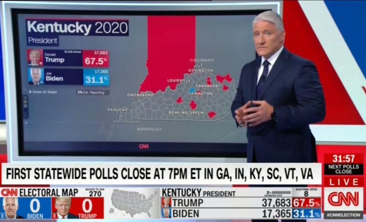 خبرنگاران نتایج اولیه انتخابات آمریکا؛ رقابت شانه به شانه سرخ و آبی